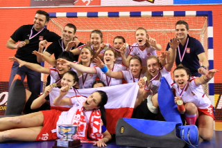 Poland women, the new EuroHockey Indoor Junior Champions.